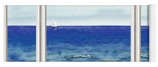 Ocean View Window Yoga Mat