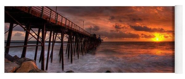 Oceanside Pier Perfect Sunset -ex-lrg Wide Screen Yoga Mat