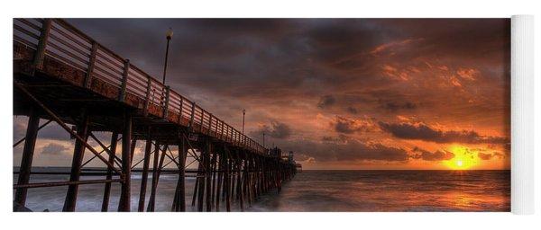 Oceanside Pier Perfect Sunset Yoga Mat