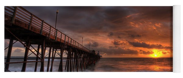 Oceanside Pier Perfect Sunset Yoga Mat