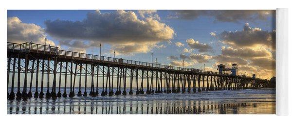 Oceanside Pier Sunset Reflection Yoga Mat