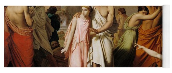 Oedipus And Antigone Or The Plague Of Thebes  Yoga Mat