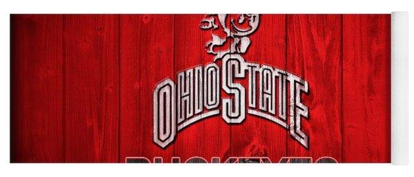 Ohio State Buckeyes Barn Door Vignette Yoga Mat