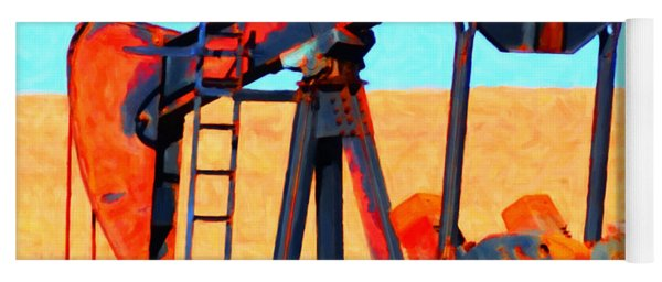 Oil Pump - Painterly Yoga Mat