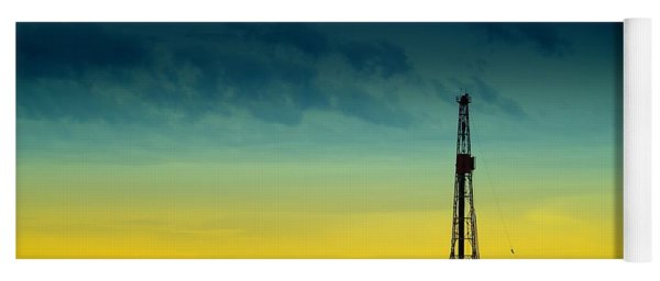 Oil Rig In The Spring Yoga Mat