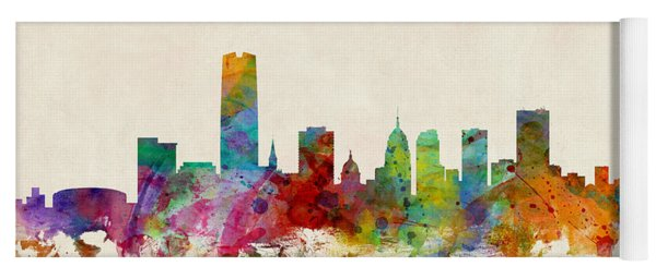 Oklahoma City Skyline Yoga Mat