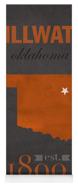 Oklahoma State University Cowboys Stillwater College Town State Map Poster Series No 084 Yoga Mat