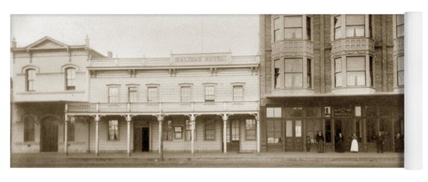 Old And New Salinas Hotel Was On West Market Street Circa 1885 Yoga Mat