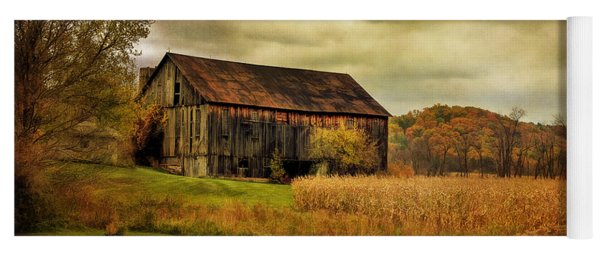 Old Barn In October Yoga Mat