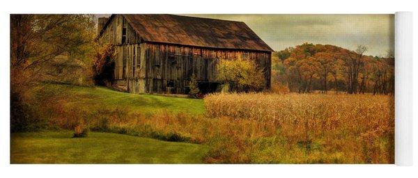 Old Barn In October Yoga Mat