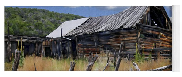Old Barn Las Trampas New Mexico Yoga Mat