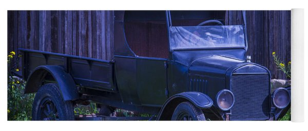 Old Black Ford Truck Yoga Mat