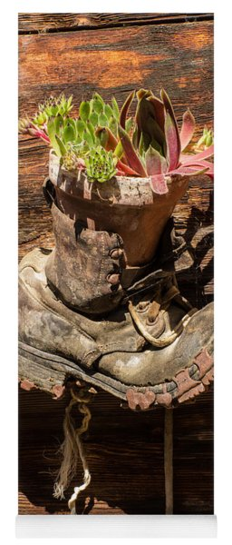 Old Boot Potted Plant - Swiss Alps Yoga Mat
