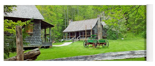 Old Cabins At The Cradle Of Forestry Yoga Mat