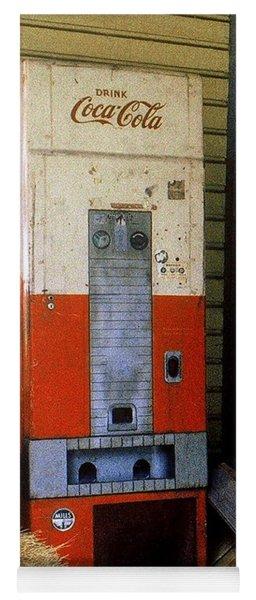Old Coke Machine Yoga Mat