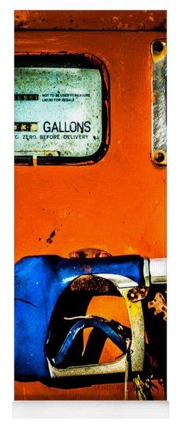Old Farm Gas Pump Yoga Mat