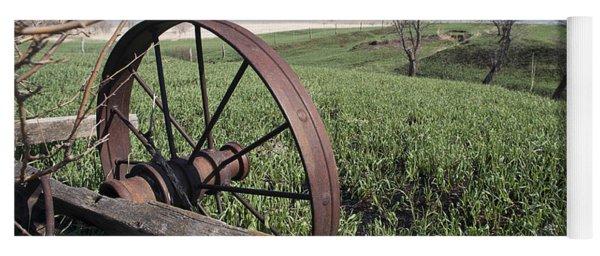 Old Farm Wagon Yoga Mat