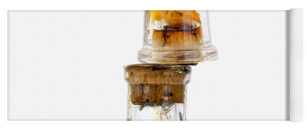Old Glass Bottles With Corks Yoga Mat