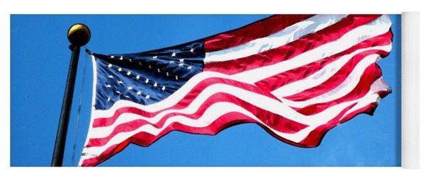Old Glory - American Flag By Sharon Cummings Yoga Mat