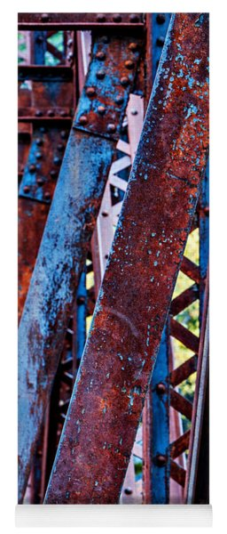 Yoga Mat featuring the photograph Old Iron by Mary Jo Allen