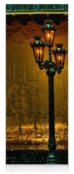 Old Lima Street Lamp Yoga Mat