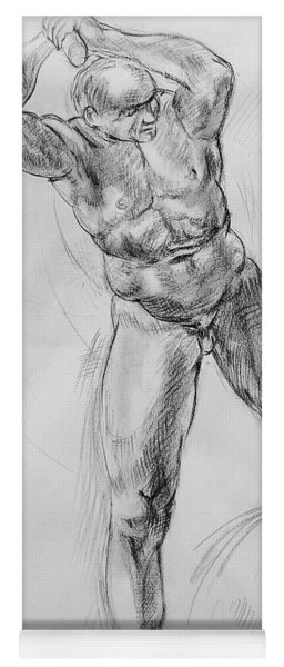 Old Masters Study Nude Man By Annibale Carracci Yoga Mat