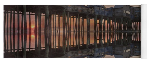 Old Orchard Pier Reflection Yoga Mat