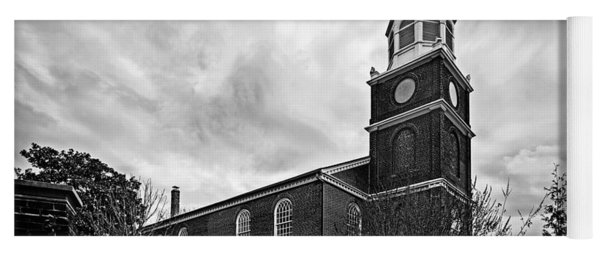 Old Otterbein Church In Black And White Yoga Mat