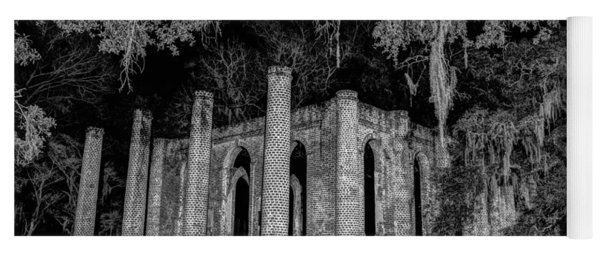 Old Sheldon Church At Night Yoga Mat