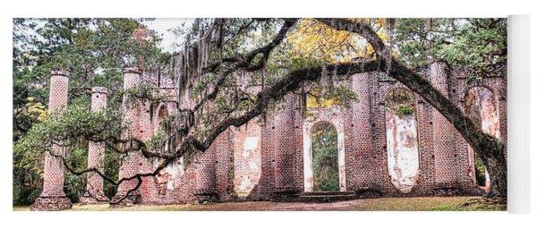 Old Sheldon Church - Bending Oak Yoga Mat