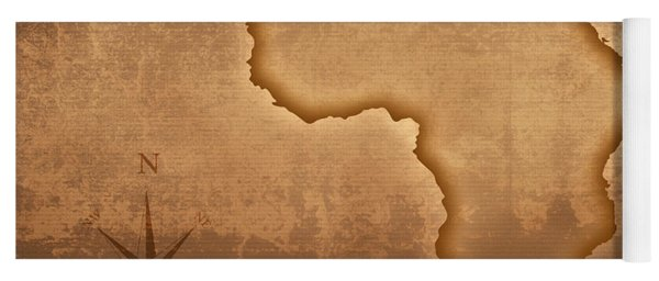 Old Style Africa Map Yoga Mat
