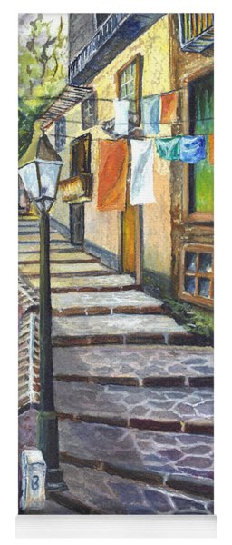 Old Village Stairs - In Tuscany Italy Yoga Mat