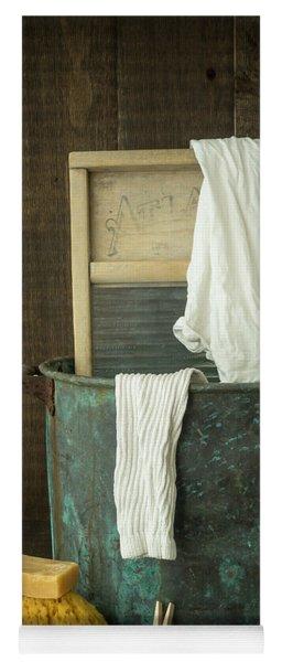 Old Washboard Laundry Days Yoga Mat