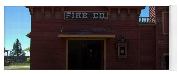 Old West Fire Station Yoga Mat