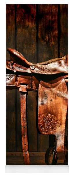 Old Western Saddle Yoga Mat