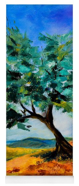 Olive Tree On The Hill Yoga Mat