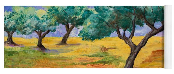 Olive Trees Grove Yoga Mat