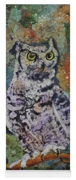 Yoga Mat featuring the painting On Alert by Ruth Kamenev