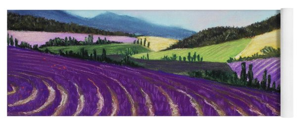 On Lavender Trail Yoga Mat