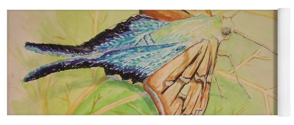 One Day In A Long-tailed Skipper Moth's Life Yoga Mat