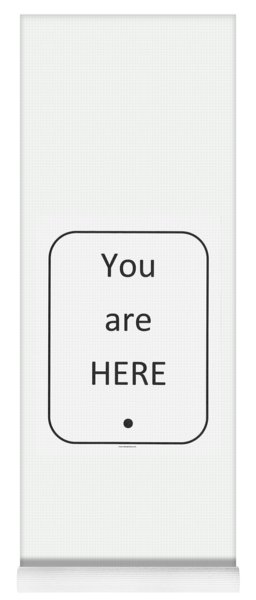 One To Ponder - You Are Here Yoga Mat