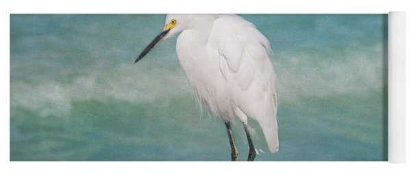One With Nature - Snowy Egret Yoga Mat