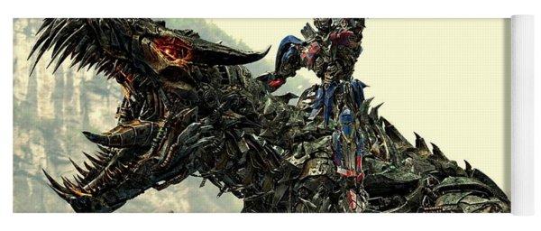 Optimus Prime Riding Grimlock Yoga Mat