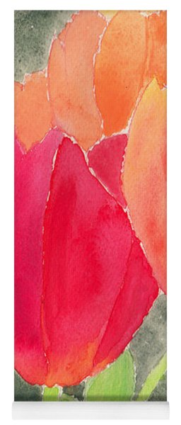 Orange And Red Tulips Yoga Mat
