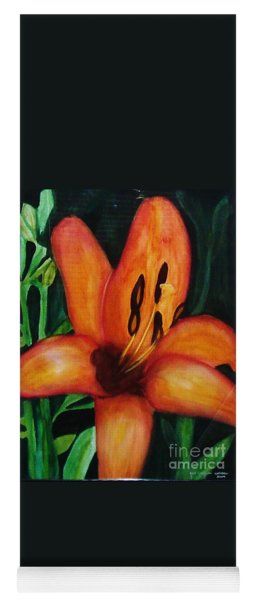 Beautiful Lily Flower Yoga Mat
