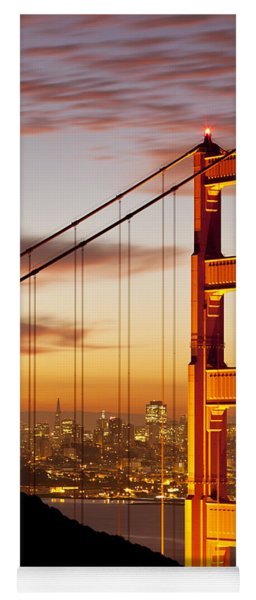 Yoga Mat featuring the photograph Orange Light At Dawn by Brian Jannsen