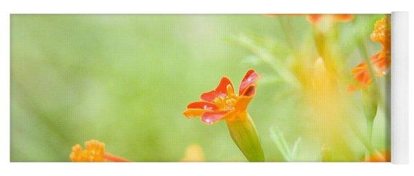 Orange Meadow Yoga Mat