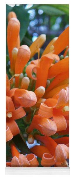 Orange Petals Yoga Mat