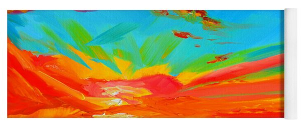 Orange Sunset Landscape Yoga Mat