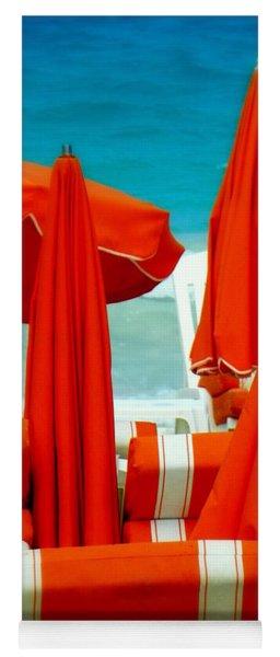 Orange Umbrellas Yoga Mat